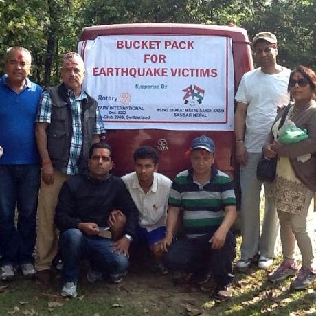 Hilfe, die ankommt - dank unserer rot. Freunde aus Nepa