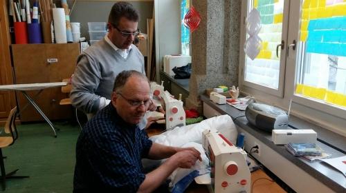 Men at work: Markus Bertet und Luca Baroni