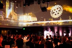 Festsaal im Aura mit 360 Grad Videoprojektion